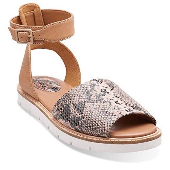 2ae020477d03 Clarks Shoes - Clarks Artisan Lydie Hala Snakeskin Sandals Size 5